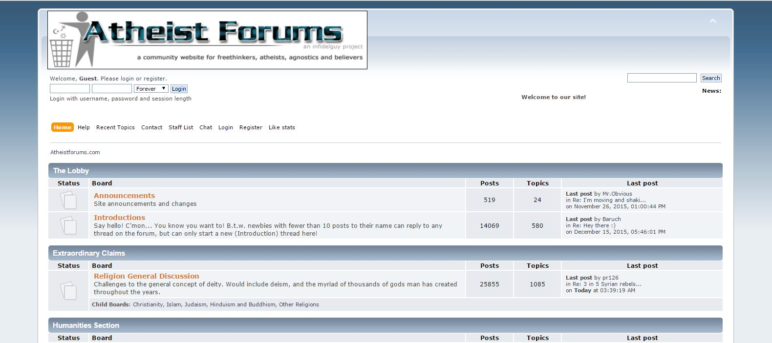 Atheist Forums